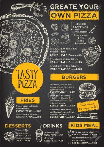 ejemplos de flyers de negocios restaurant
