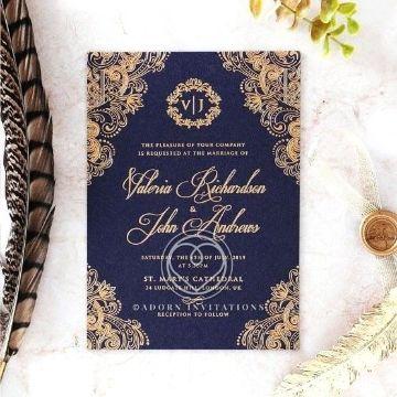 tarjetas de matrimonio 2019 elegantes