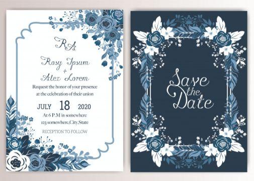 tarjetas de matrimonio elegantes ornamentos
