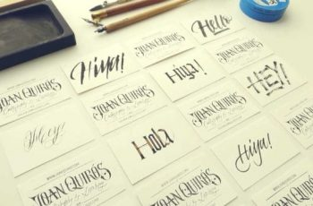 tarjetas de presentacion de manualidades lettering