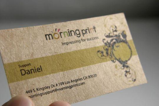tarjetas de presentacion de manualidades papel reciclado