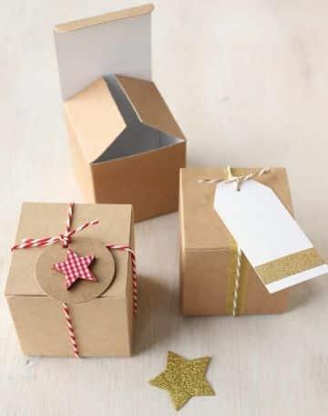cajas de regalo navideñas caseras