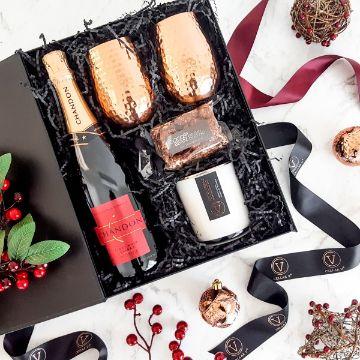 cajas de regalo navideñas para vinos