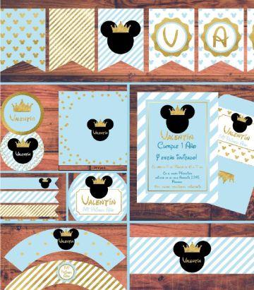invitaciones de mickey rey diferentes diseños