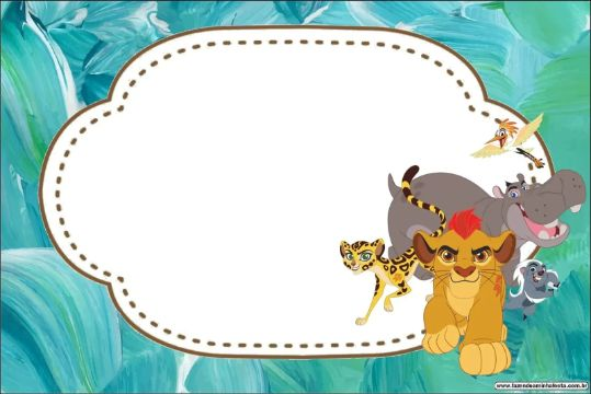 invitaciones del rey leon para editar texto