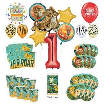 invitaciones del rey leon para editar y otros objetos decorativos