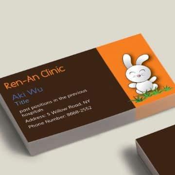 tarjetas de presentacion de pediatras a dos tonos