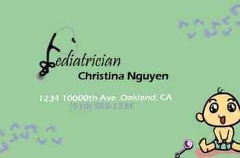 tarjetas de presentacion de pediatras divertidas