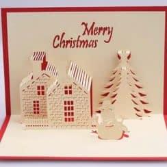 tarjetas navideñas creativas en 3d