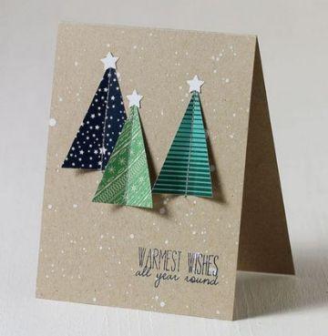 tarjetas navideñas creativas manualidades