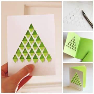 tarjetas navideñas creativas paso a paso