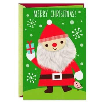 tarjetas navideñas de santa claus con texturas