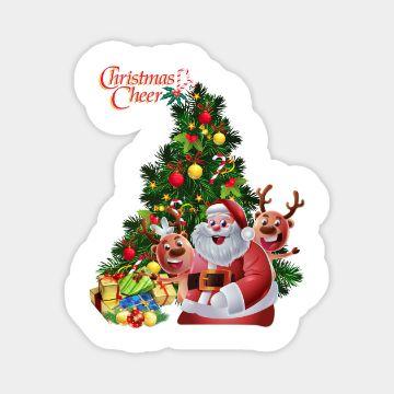 tarjetas navideñas de santa claus contornos