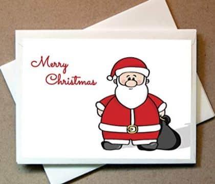 tarjetas navideñas de santa claus sobres