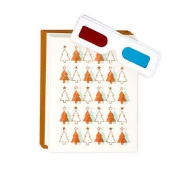 tarjetas navideñas en 3d con lentes