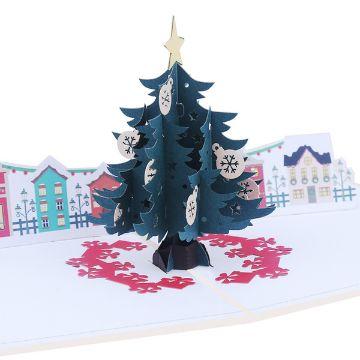 tarjetas navideñas en 3d figuras
