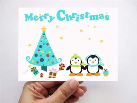 tarjetas navideñas para niños diseños
