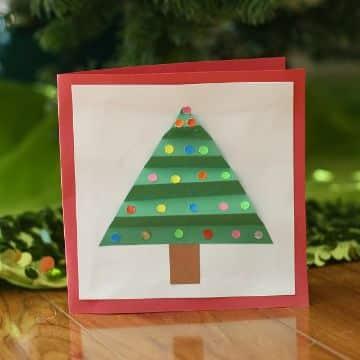 tarjetas navideñas para niños papel corrugado