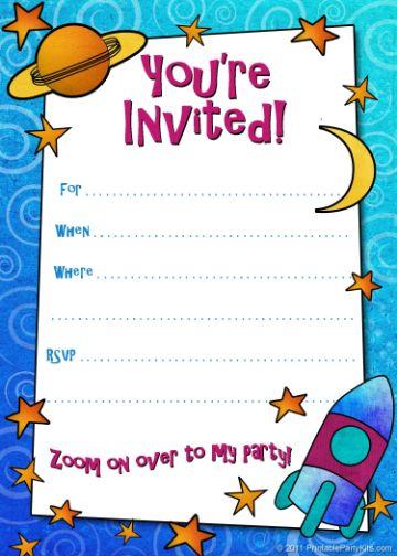 invitaciones de cumpleaños para niños para editar