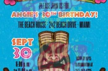 invitaciones para fiesta luau postales digitales