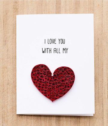 tarjetas de amor para mi novio manualidades