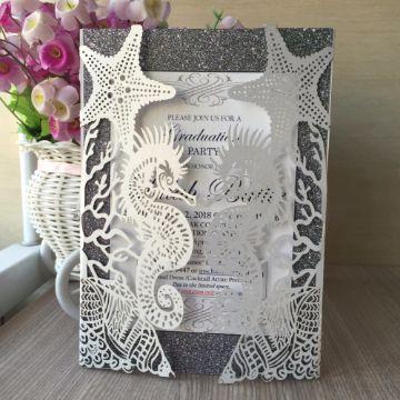 tarjetas de boda en la playa con sobres originales