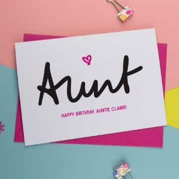 tarjetas de cumpleaños para una tia con letras