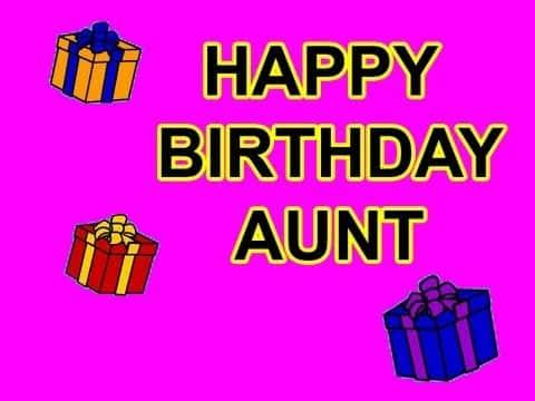 tarjetas de cumpleaños para una tia sencilla digital
