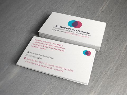 tarjetas de presentación para psicologos basicas