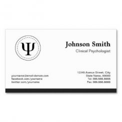 tarjetas de presentación para psicologos con simbolos