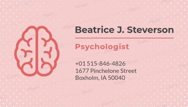 tarjetas de presentación para psicologos ideas graficas