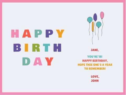 tarjetas digitales cumpleaños infantiles minimalistas