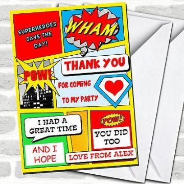 tarjetas digitales cumpleaños infantiles superheroes
