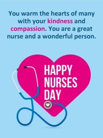 tarjetas por el dia de la enfermera con emocion