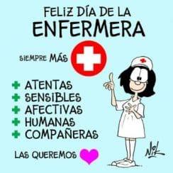 tarjetas por el dia de la enfermera divertida