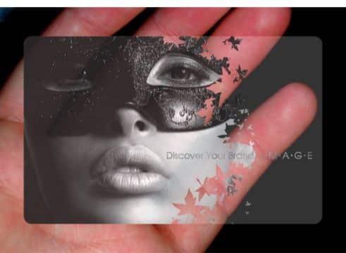 tarjetas presentacion transparentes artisticas