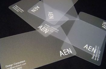 tarjetas presentacion transparentes minimalistas