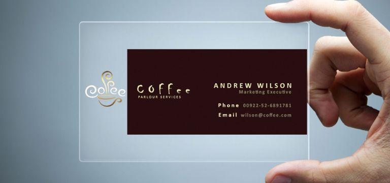 tarjetas presentacion transparentes profesiones