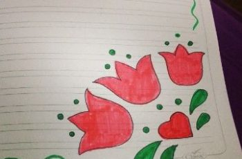 diseños para decorar hojas de cuadernos flores