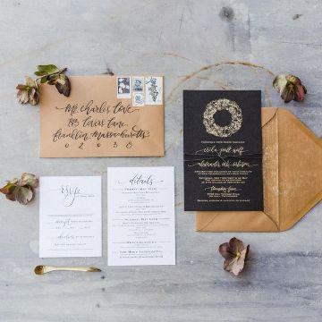 sobres para tarjetas de matrimonio rusticas