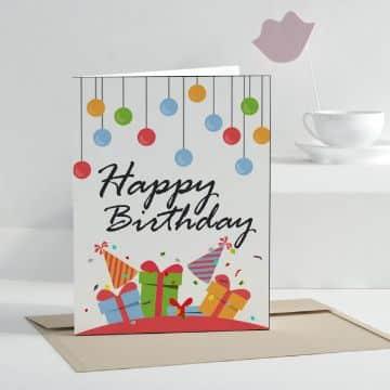 tarjeta de felicitaciones por cumpleaños clasica