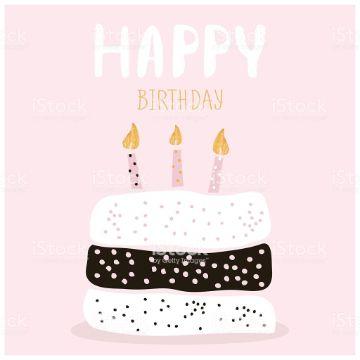 tarjeta de felicitaciones por cumpleaños minimalista