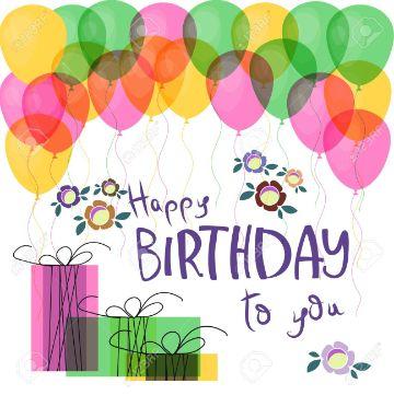 tarjeta de felicitaciones por cumpleaños sencilla