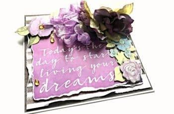 tarjetas de amistad con flores en relieve