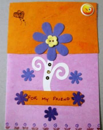 tarjetas de amistad con flores manual