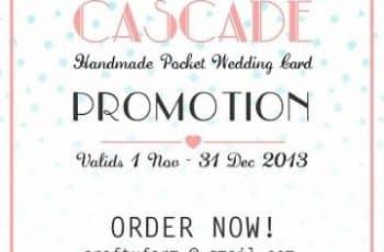 tarjetas de invitacion para promocion de bodas