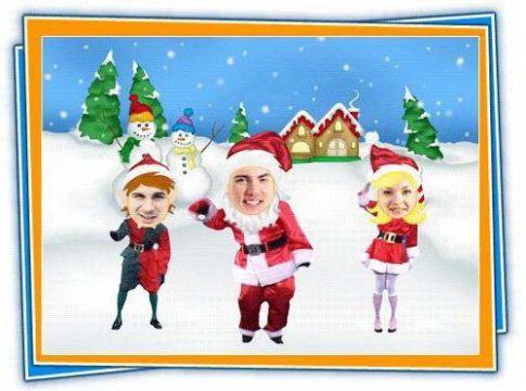 tarjetas de navidad animadas con fotos