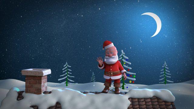 tarjetas de navidad animadas santa