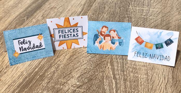 tarjetas de navidad con mensajes diferentes diseños