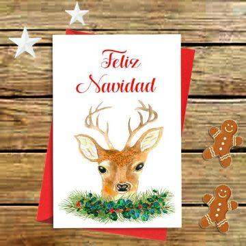 tarjetas de navidad con mensajes e ilustraciones
